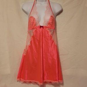 Hot Pink Victoria's Secret  Negligee  Size L